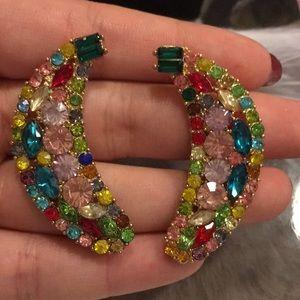 Zara crystal moons earrings